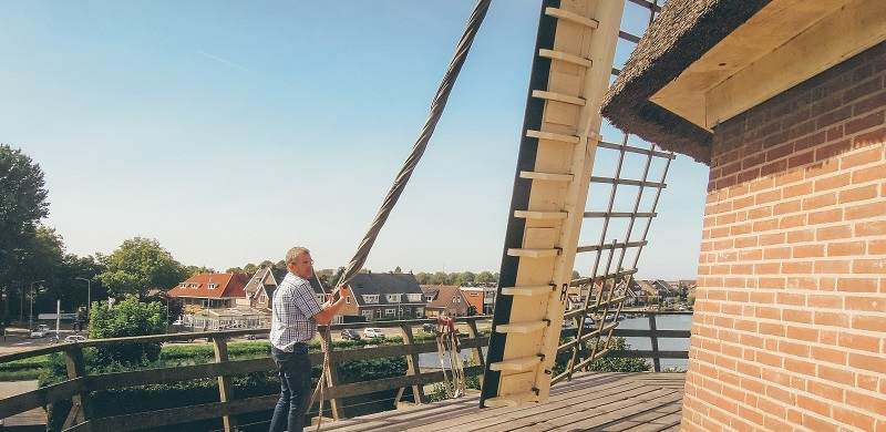 The windmill in Amsterdam Sloten