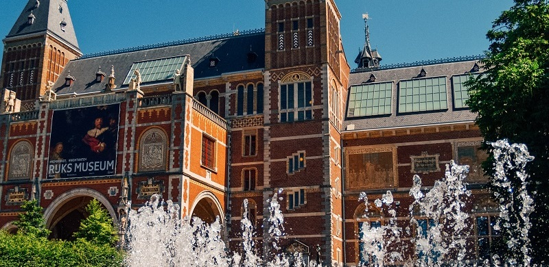 The Rijksmuseum, iconic building with masterpieces of the Dutch Golden age.